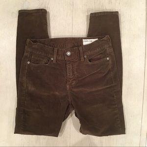 Pistola brown higher waist corduroy pants. Size 27